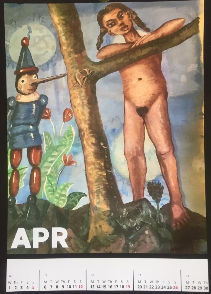 April Calendar: Pinocchio