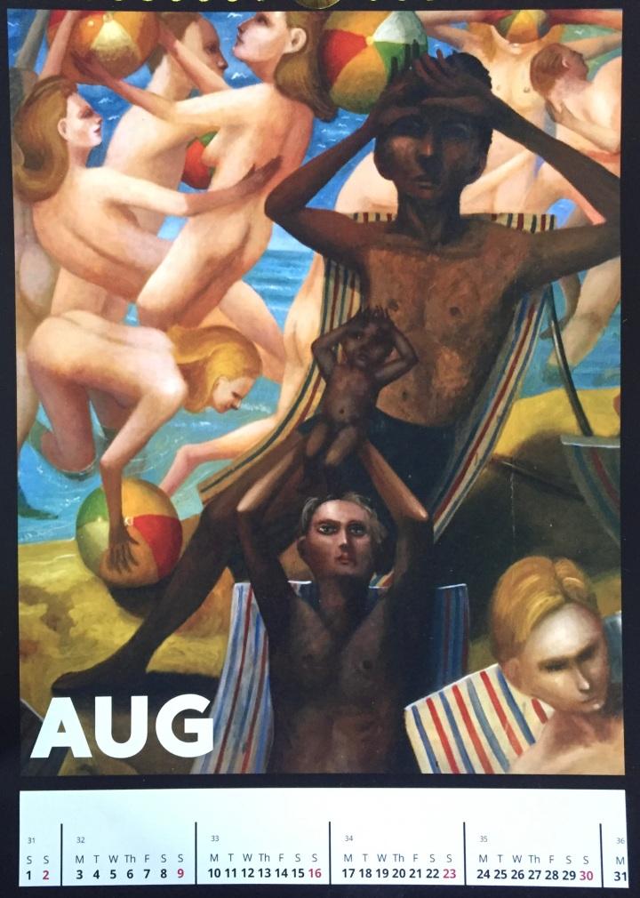 Steven Campbell Calendar,August.